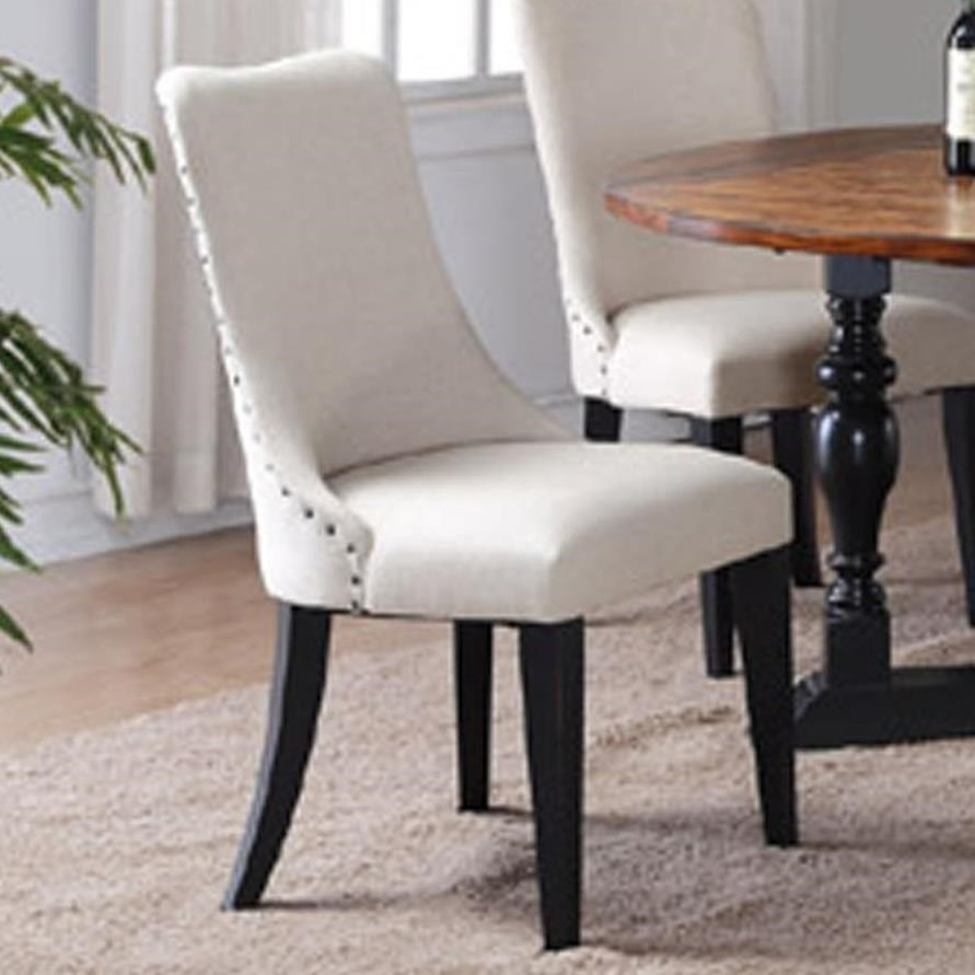 Winners Only Weston Upholstered Side Chair With Nailhead Trim
