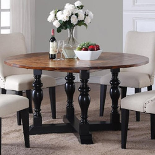 48 Square Dining Room Table: Square To Round Drop Leaf Dining Table