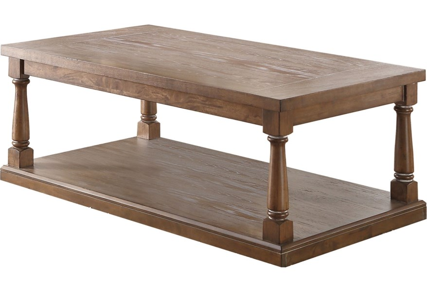 Xcalibur Transitional Coffee Table With Turned Legs By Winners Only At Dunk Bright Furniture