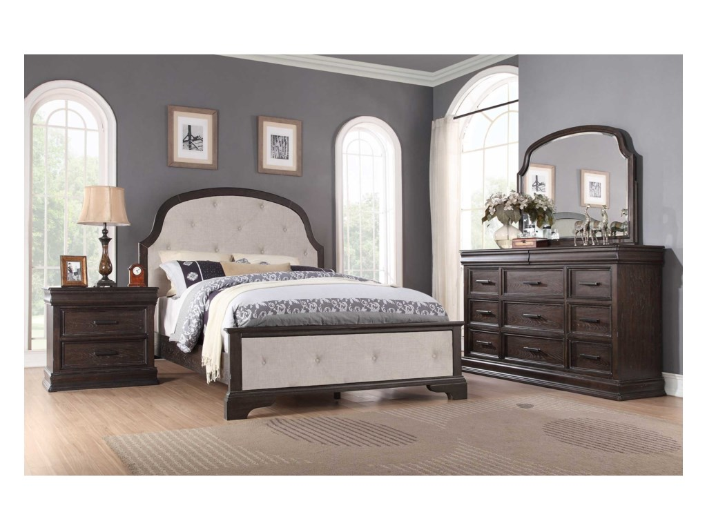 Winners Only XcaliburKing Upholstered Bed