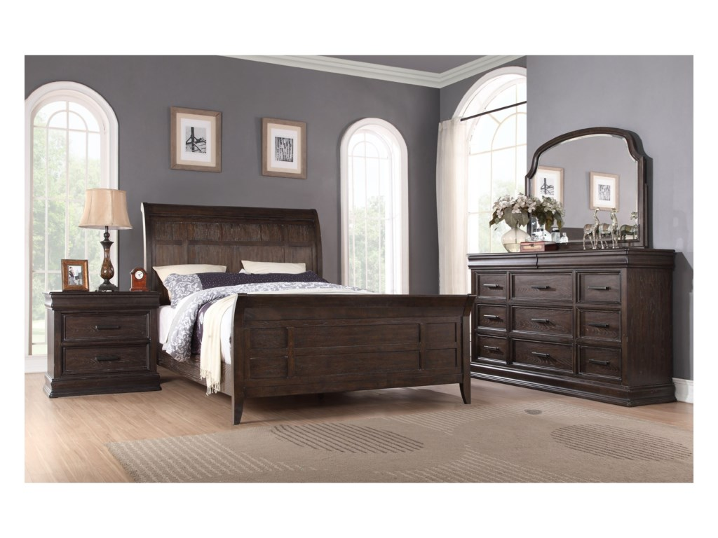 Winners Only XcaliburQueen Sleigh Bed