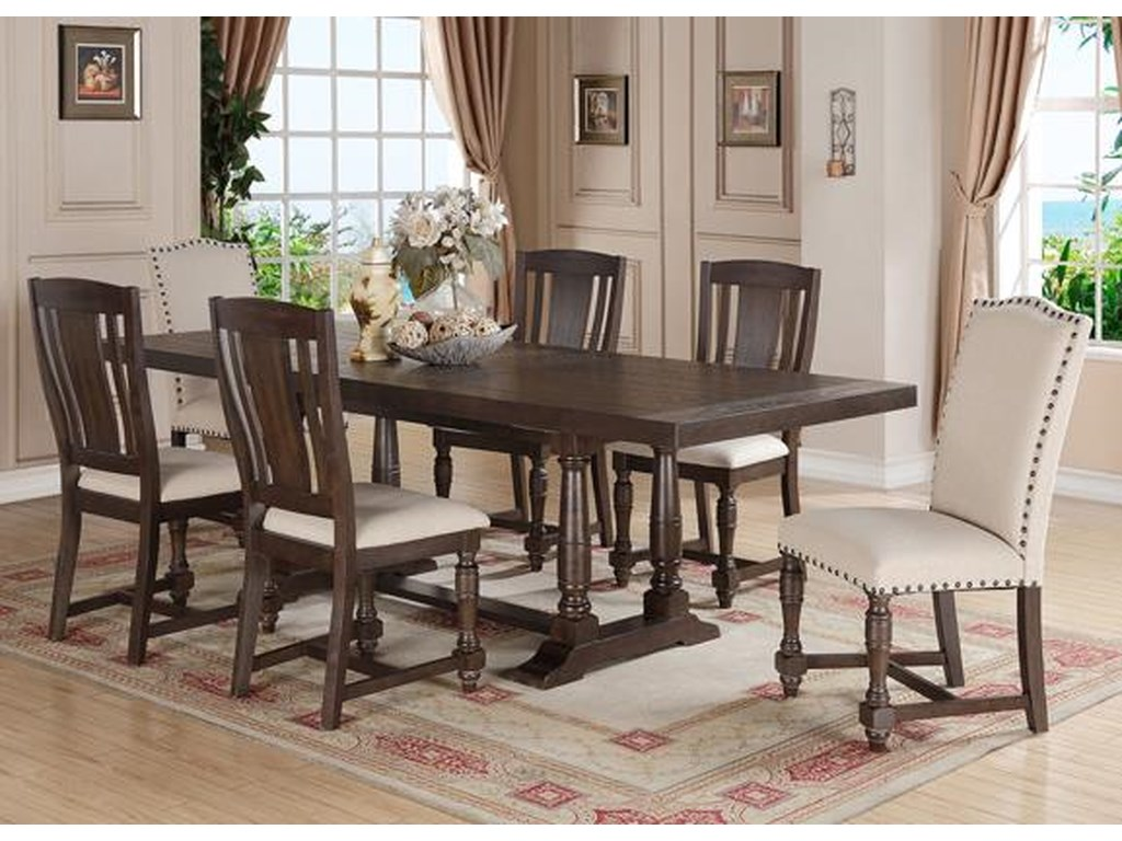 Winners Only Xcalibur7 Piece Table and Chair Set