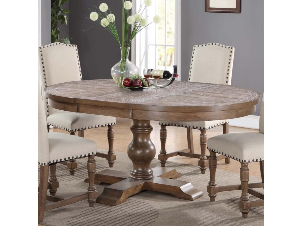 Winners Only Xcalibur Dx14866g Round Pedestal Table With 18 Leaf