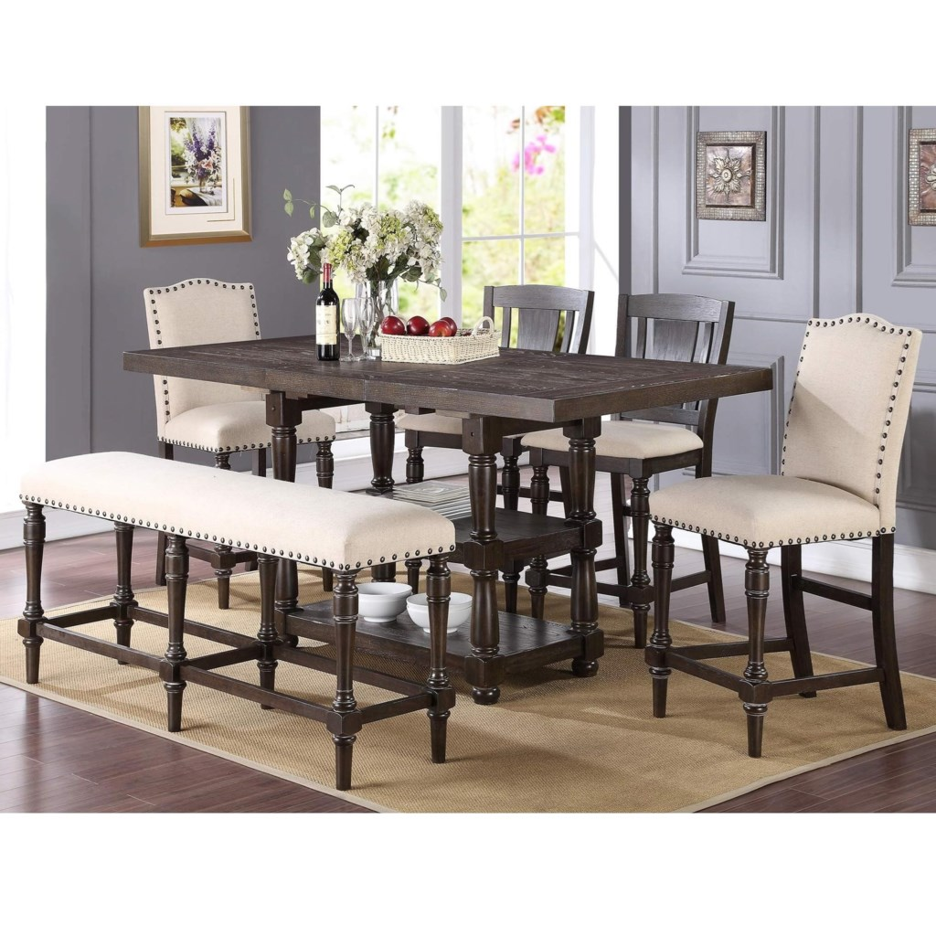 Winners Only Xcalibur Counter Height Dining Set With Upholstered