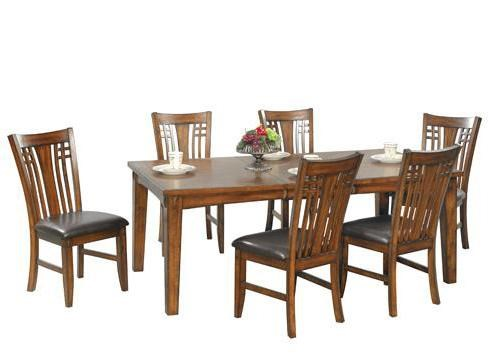 Ordinaire Winners Only Zahara 7 Piece Leg Dining Table And Side Chair Set