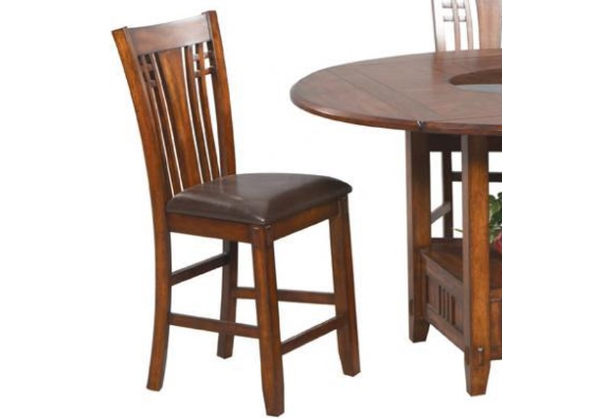 Enjoyable Zahara Mission Style Barstool Caraccident5 Cool Chair Designs And Ideas Caraccident5Info