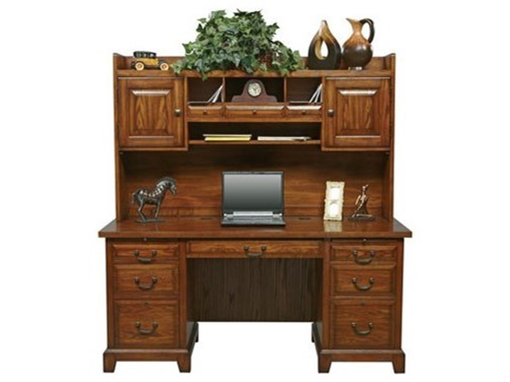 Winners Only Zahara Traditional Double Pedestal Desk And Hutch