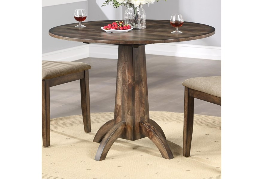 Winners Only Zoey 40 Round Table W 2 Drop Leaves Crowley Furniture Mattress Kitchen Tables