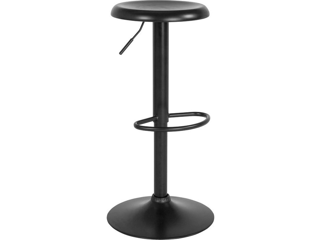 Winslow Home BarstoolsAdjustable Height Retro Barstool in Black Fi