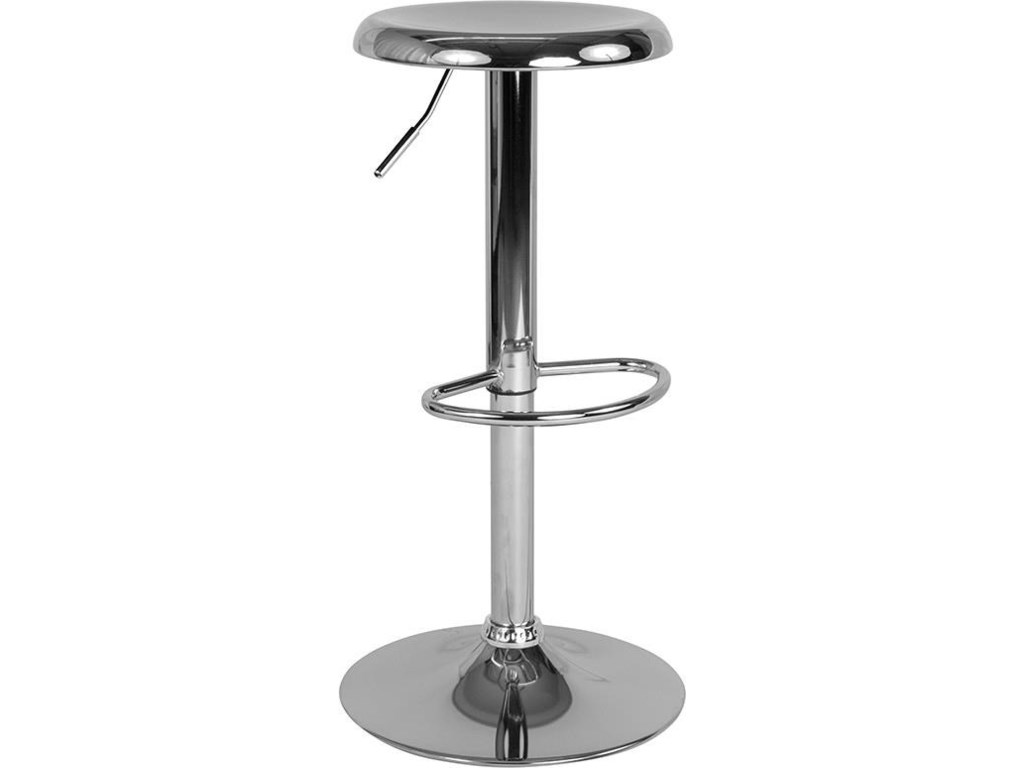 Winslow Home BarstoolsAdjustable Height Retro Barstool in Chrome F