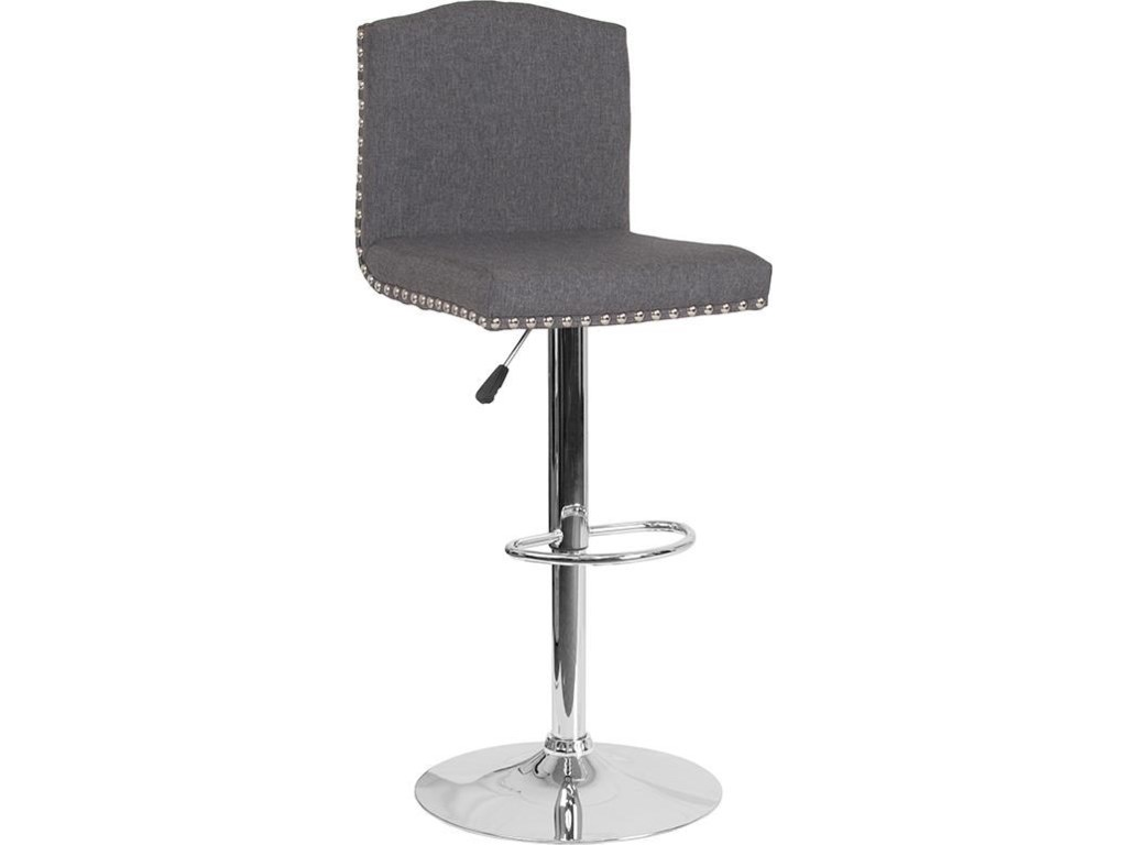Winslow Home BarstoolsAdjustable Height Barstool with Accent Nail