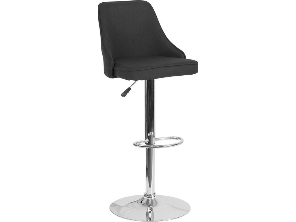 Winslow Home BarstoolsAdjustable Height Barstool in Black Fabric