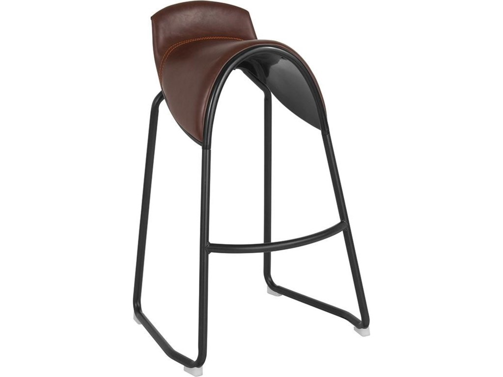 Winslow Home BarstoolsSanta Fe Saddle Chair Barstool in Brown Viny