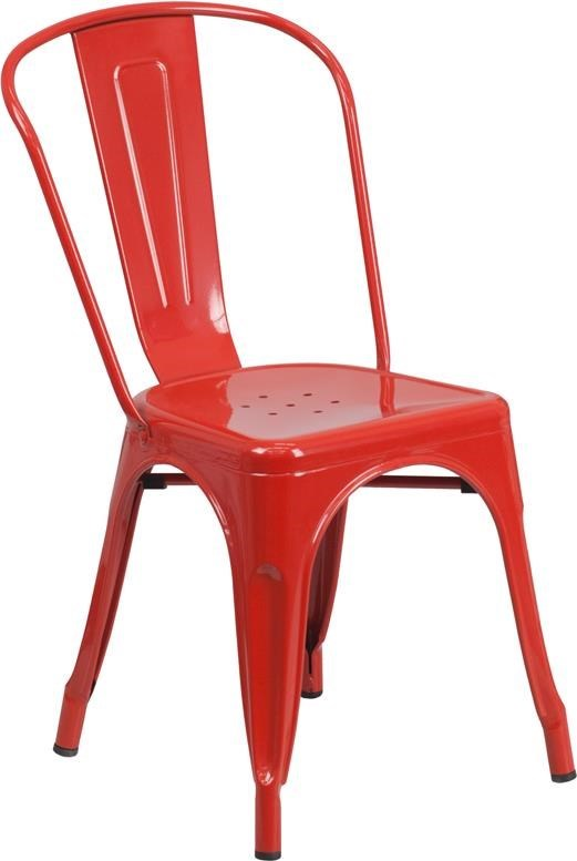 Picture of: Winslow Home Metal Indoor Outdoor Chairs Win 0646 Red Metal Indoor Outdoor Stackable Chair Sam Levitz Furniture Dining Side Chairs