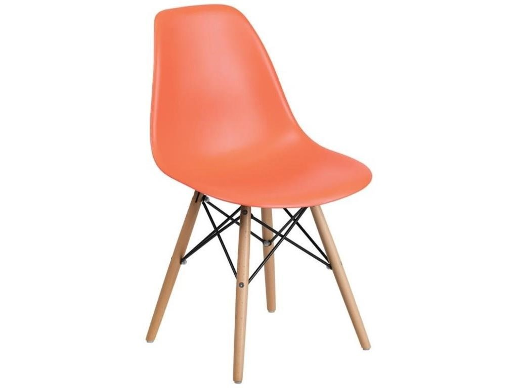 Winslow Home Plastic Chair - Peach2 Plastic Dining Side Chairs Set