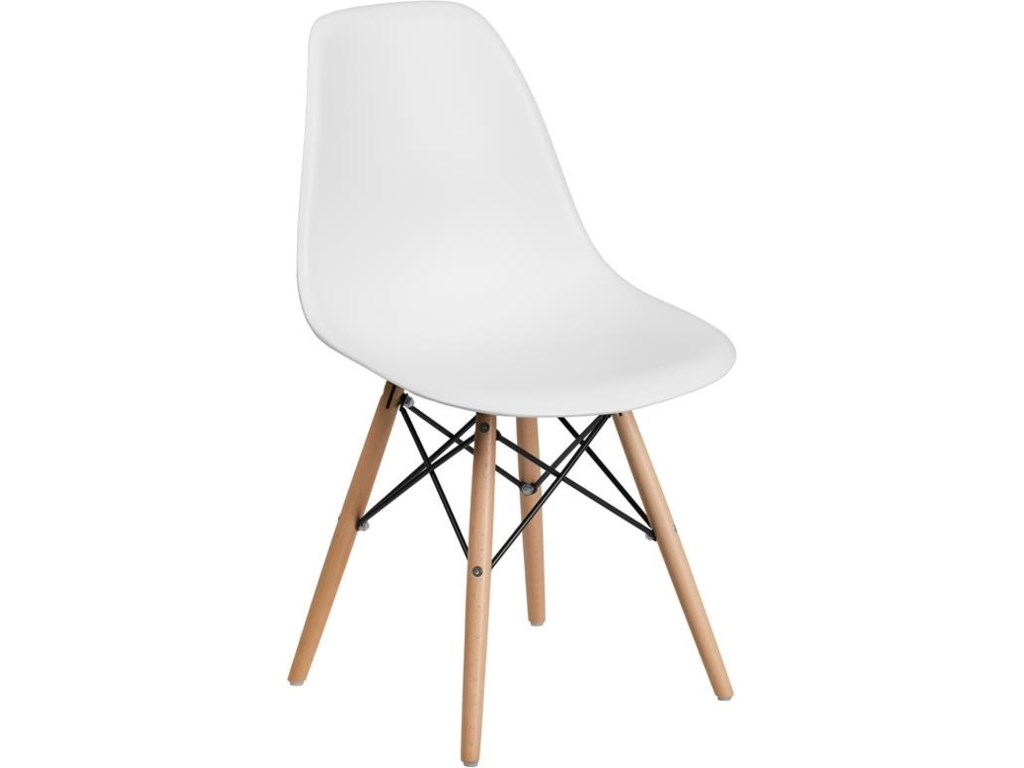 Winslow Home Plastic Chair - WhitePlastic Dining Chair