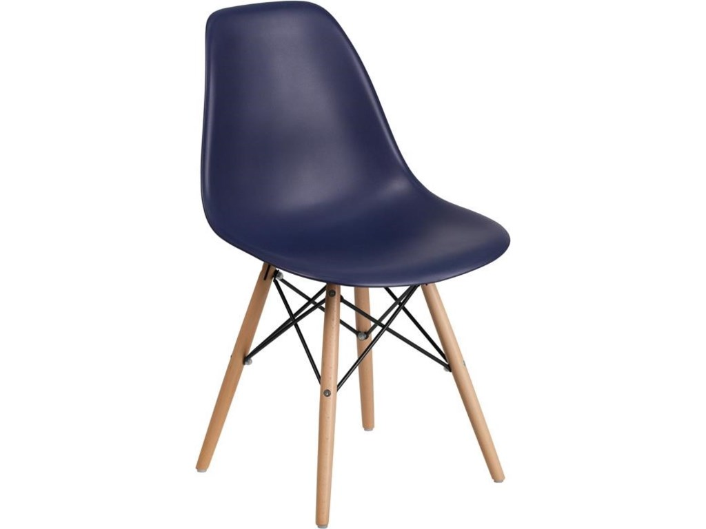 Winslow Home Plastic Chair - NavyPlastic Dining Chair