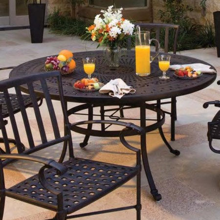 "54"" Round Cast Aluminum Dining Table"