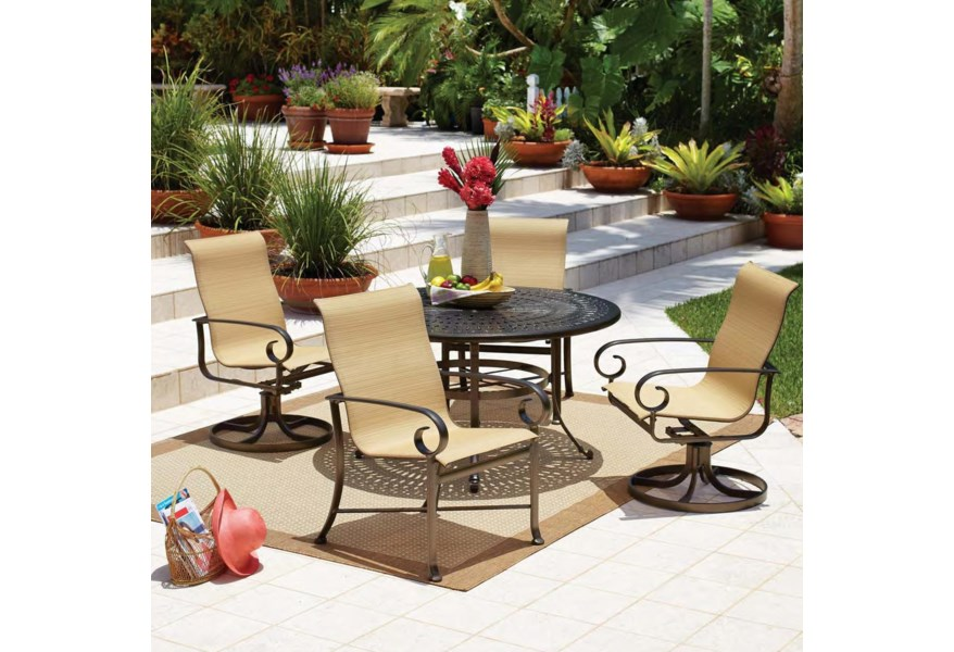 Outdoor Dining Set With Cast Iron