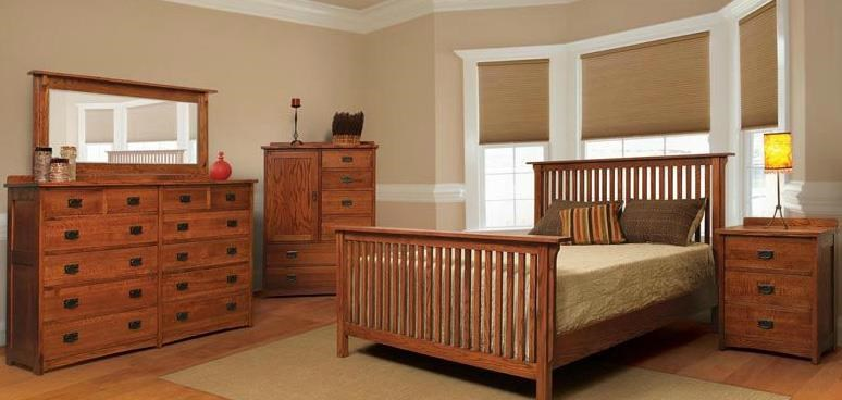 Witmer Furniture American Mission Four Piece Queen Bedroom Set ...