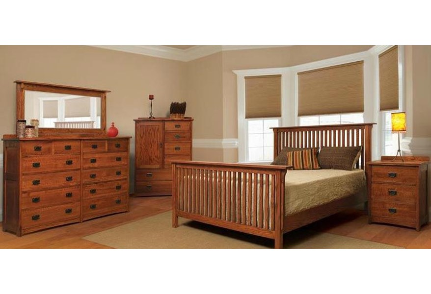 American Mission Four Piece Queen Bedroom Set
