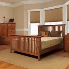 Witmer furniture american mission bo39911 mission queen slat bed dunk bright furniture headboard footboard