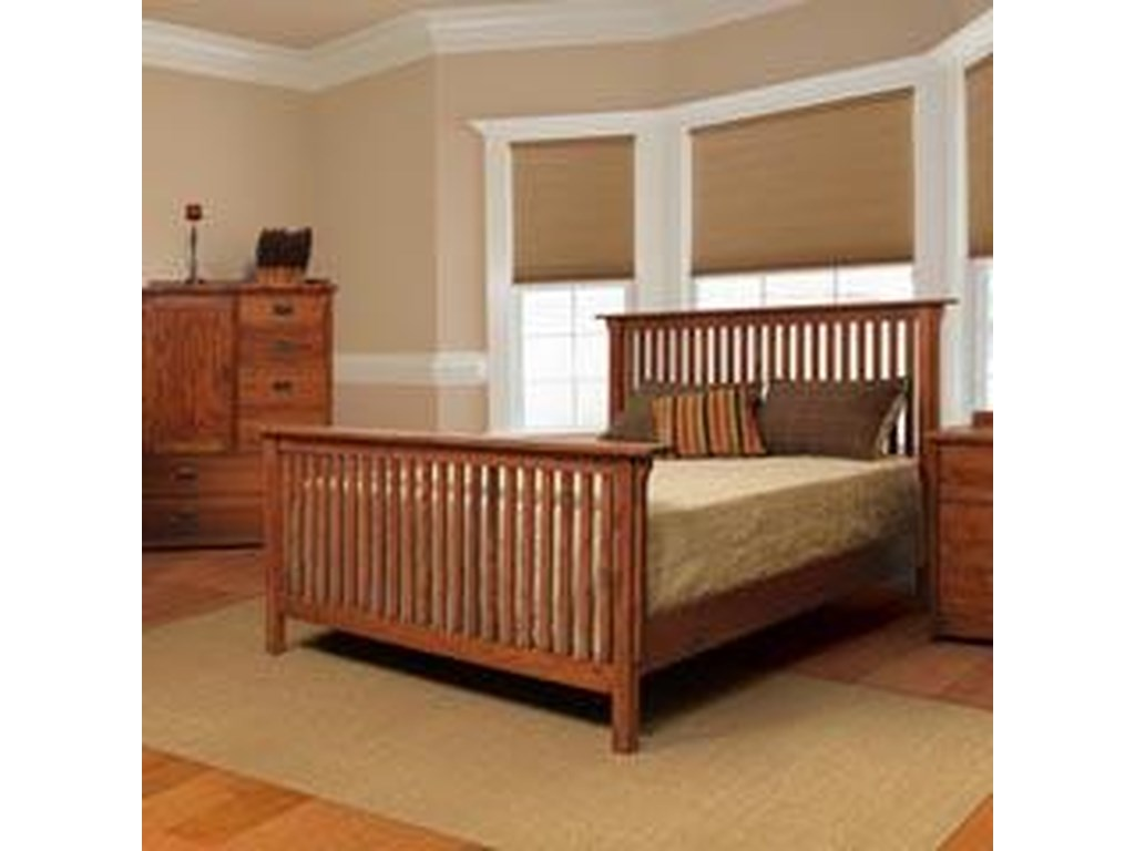 Witmer Furniture American Mission BO39911 Mission Queen Slat Bed