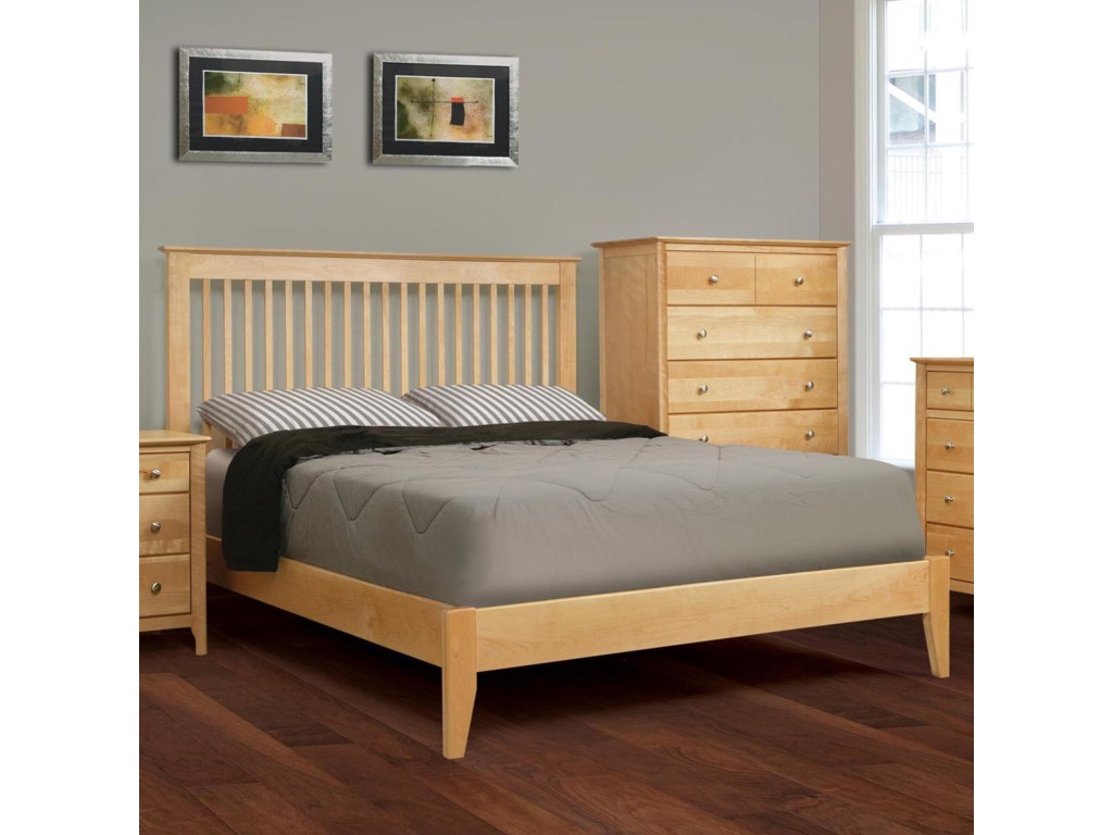 Witmer Furniture Stratford Bb1315p Queen Low Profile Platform Bed