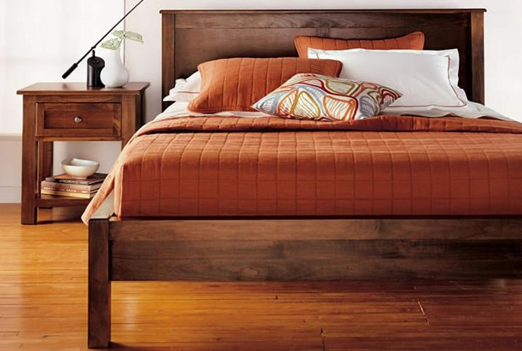 Shown with One-Drawer Night Stand. Bed Shown May Not Represent Size or Slats Indicated.