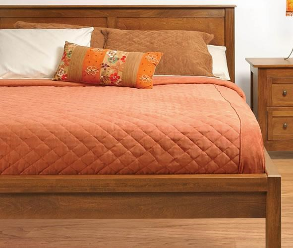 King Size 2 Panel Tall Platform Bed with 3-Wood Slats