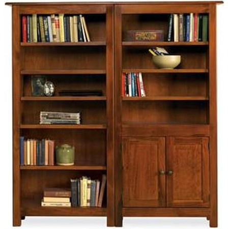 9-Shelf Bookcase Combo with Doors