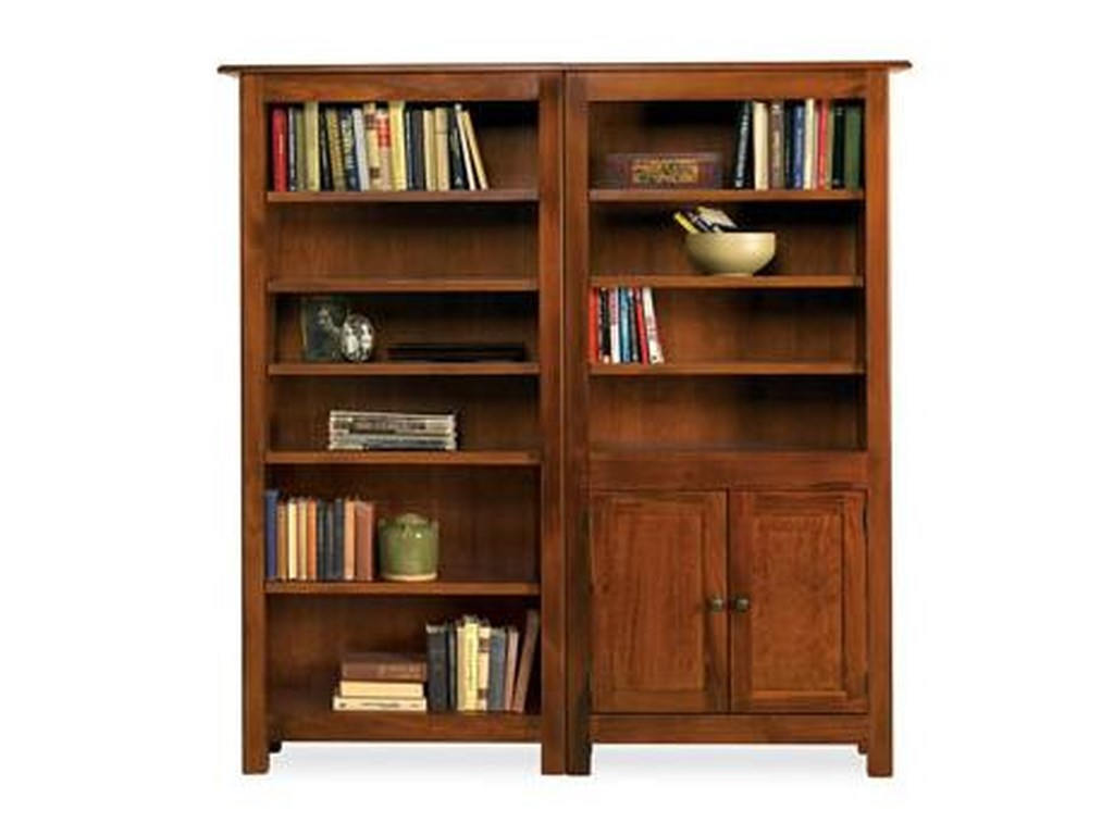 Witmer Furniture Taylor J9-Shelf Bookcase Combo with Doors