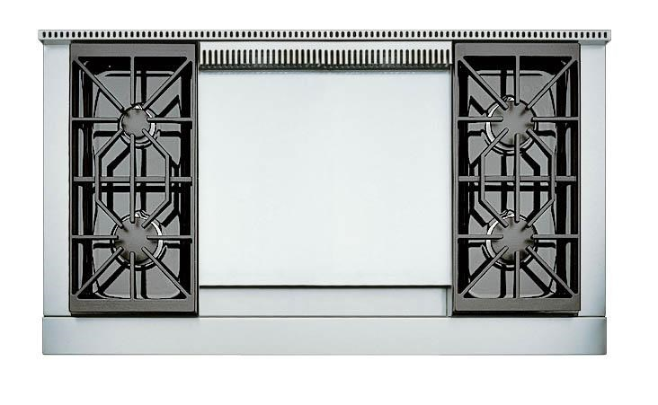4 Burners with Double Griddle