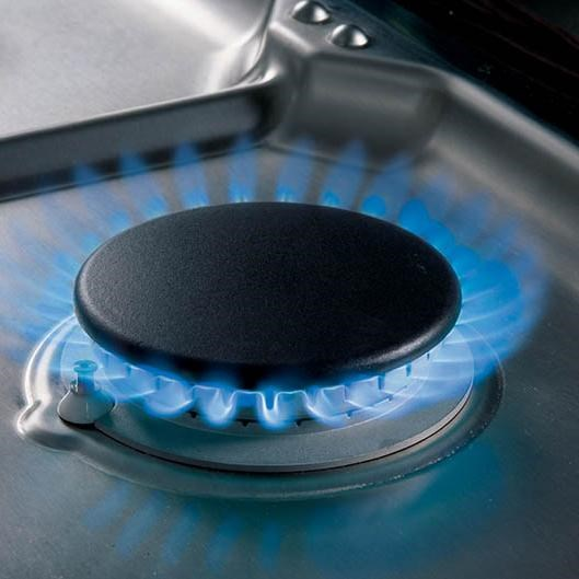 Dual Stacked Burners Have Simmer and High Heat Capabilities