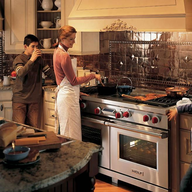 Wolf Products Look Great in Kitchens