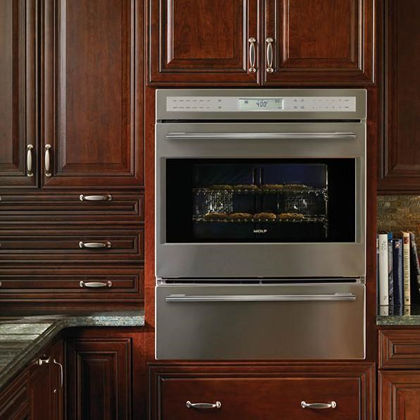 Shown with Wolf E Series Framed Single Oven (SO30-2F/S)