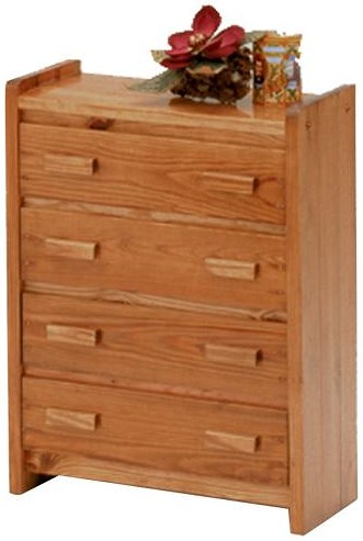 Woodcrest Heartland BR Traditional 4 Drawer Chest