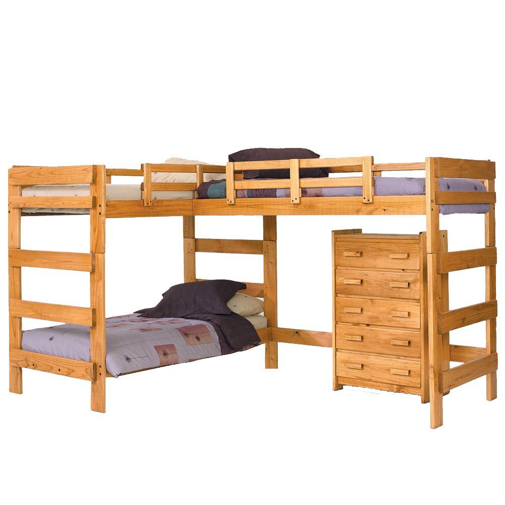Woodcrest Heartland BR L Shaped Loft Bed