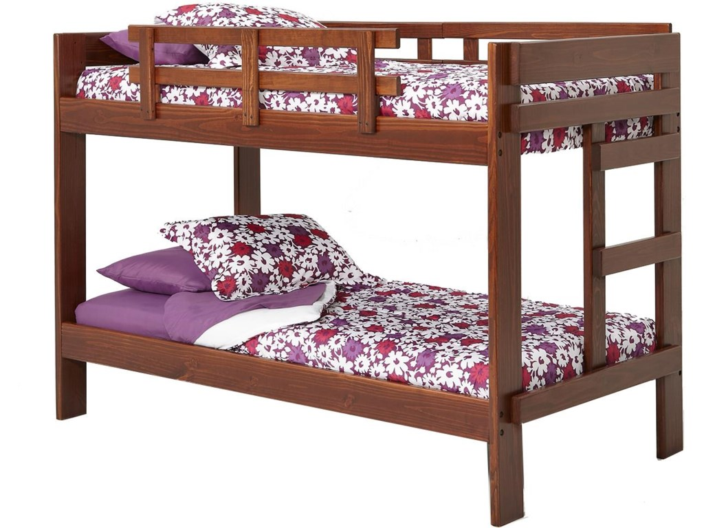 Woodcrest Heartland 2 X 6 Wooden Twin Size Bunk Bed Mueller