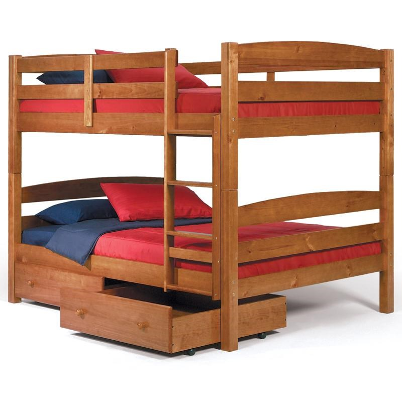 Woodcrest Pine Ridge Square Post Full Over Full Size Bunk Bed