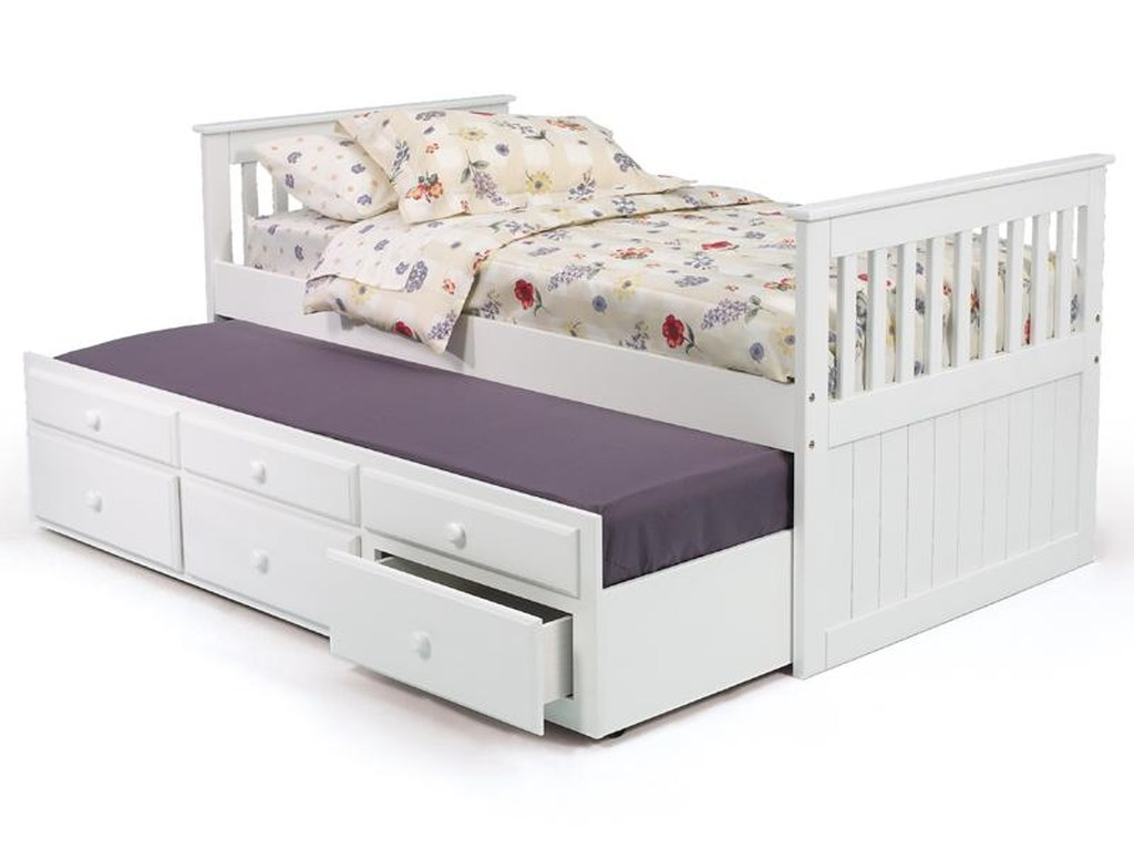 Woodcrest Pine Ridge Tbw650 A Twin Mission Bed With Twin Trundle