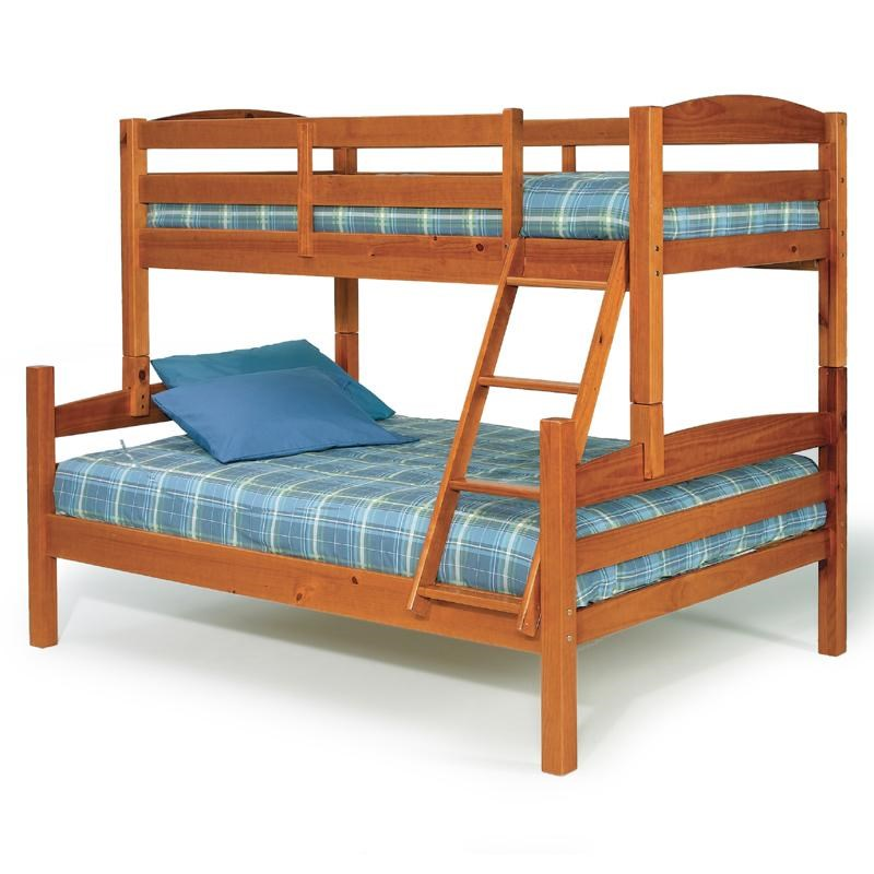 Woodcrest Pine Ridge Twin Over Full Bunk Bed With Ladder And Slats