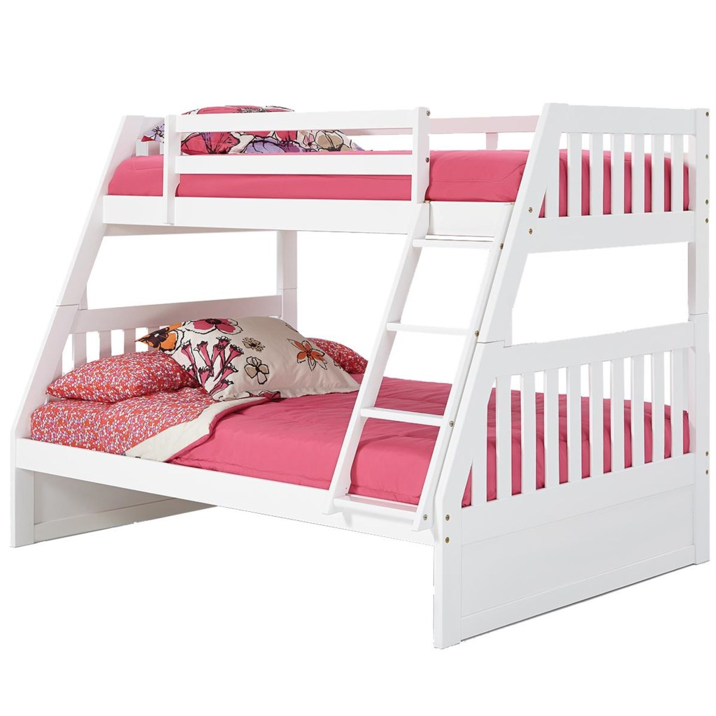 Woodcrest Pine Ridge Twin Over Full Mission Bunk Bed With Slats