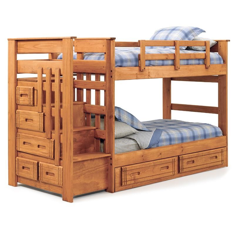 Woodcrest Woody Creek Twin Over Twin Stairway Bunk Westrich
