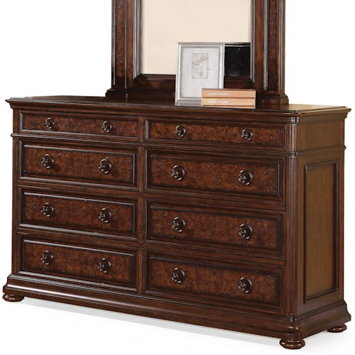 Flexsteel Wynwood Collection Aberdeen 8-Drawer Dresser with Jewelry Tray