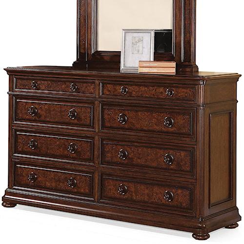 Flexsteel Wynwood Collection Aberdeen 8-Drawer Dresser with Jewelry Tray