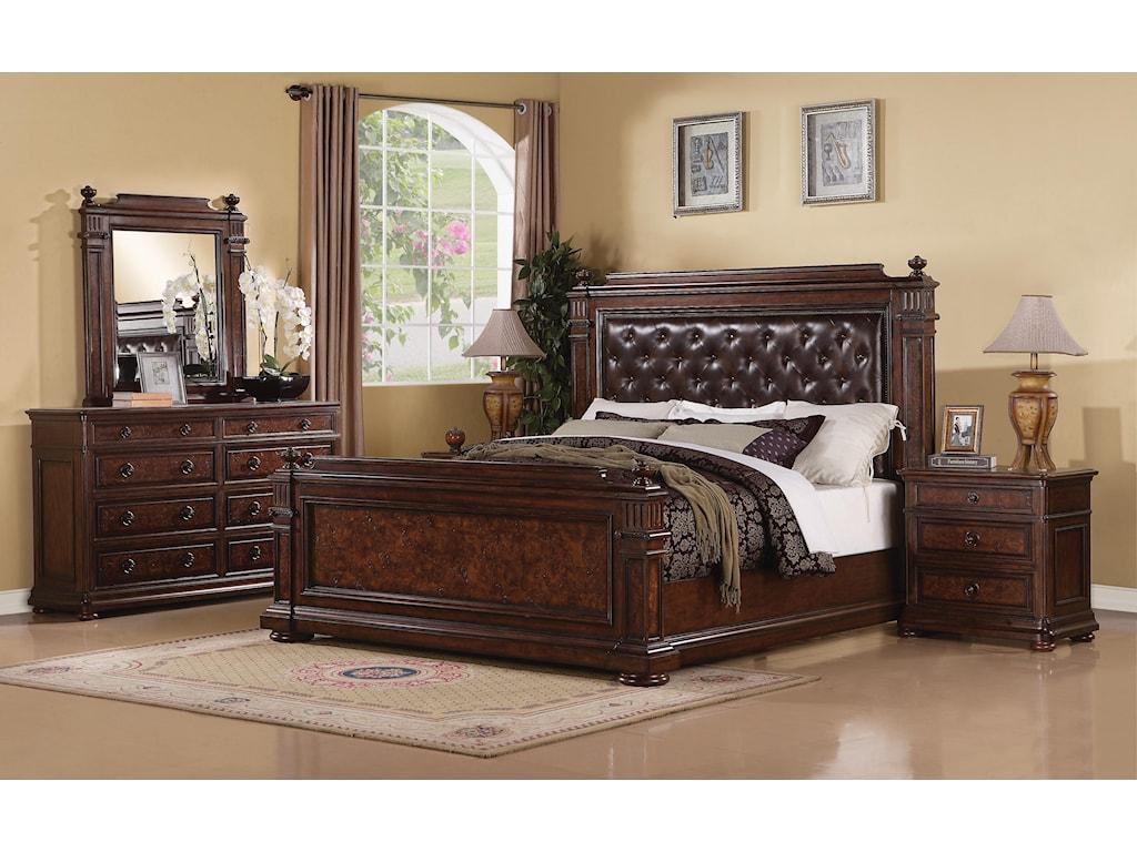 Flexsteel Wynwood Collection AberdeenQueen Mansion Bed