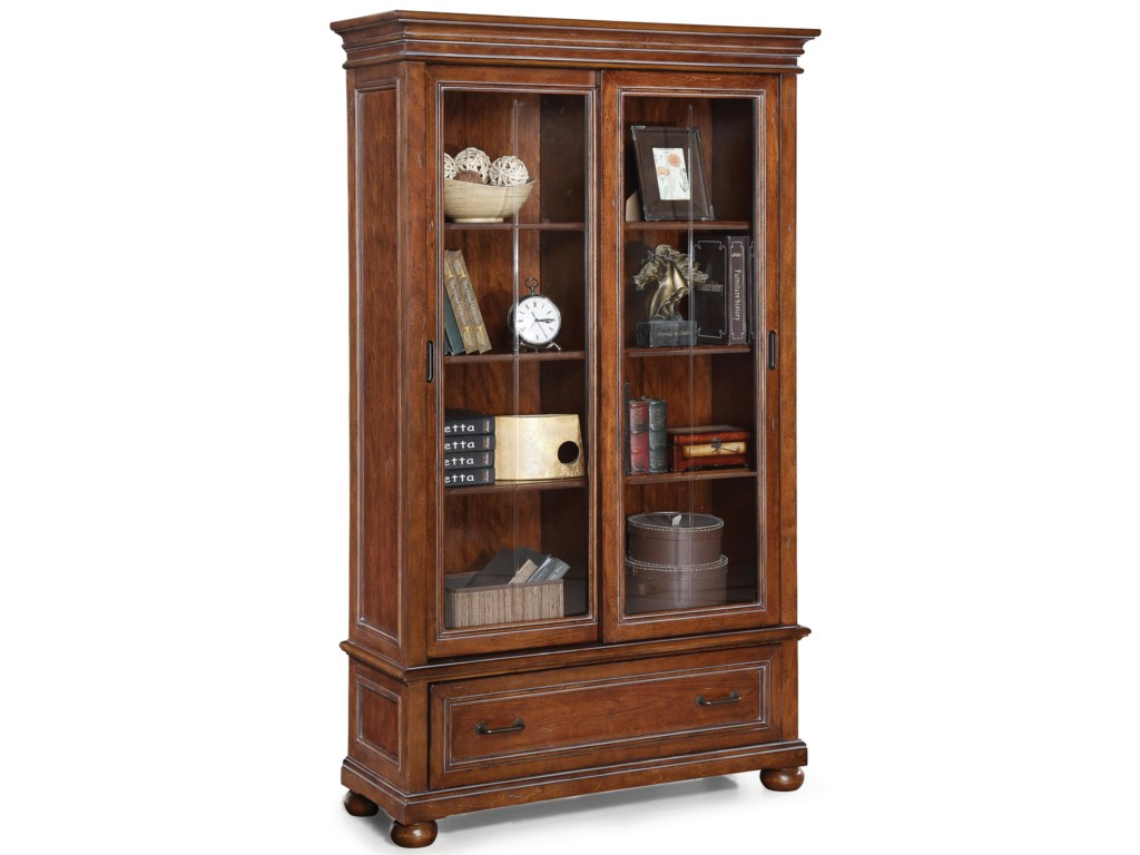 Flexsteel Wynwood Collection American HeritageSliding Door Bookcase