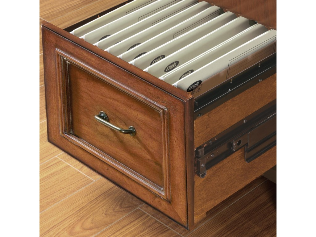 Desk Features Two Locking File Drawers