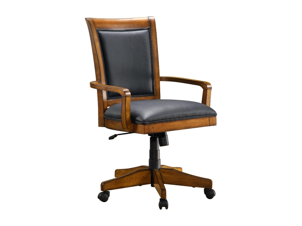 Upholstered swivel desk chair - Flexsteel Wynwood Collection Office Chairs Soho Upholstered Swivel Tilt Office Desk Chair Coconis Furniture Mattress 1st Executive Desk Chairs